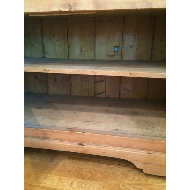 Charming Old Rustic Pine Linen Press Cabinet - Image 11 of 11