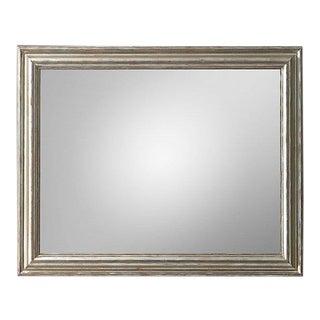 Restoration Hardware Baroque Aged Silver-Leaf Mirror For Sale