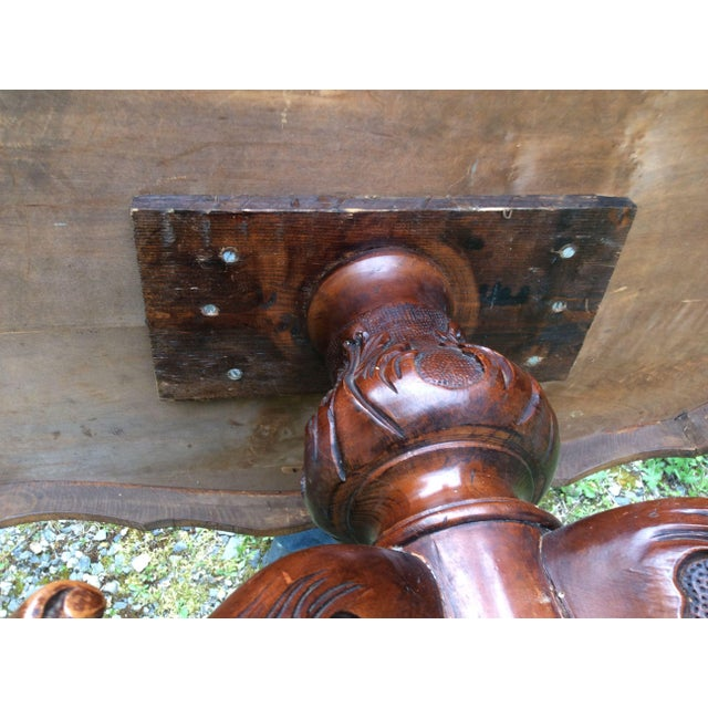 Walnut French Marquette Wood Violon Coffee Table For Sale - Image 7 of 11