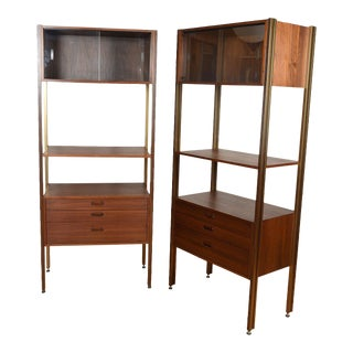 Pair of Free Standing Adjustable Wall Units For Sale