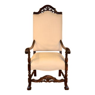 19th Century Vintage Flemish Arm Chair For Sale