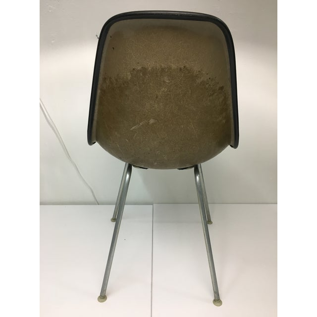 Vintage Molded Side Chair in Burnt Orange Naugahyde by Charles Eames for Herman Miller For Sale In New York - Image 6 of 13