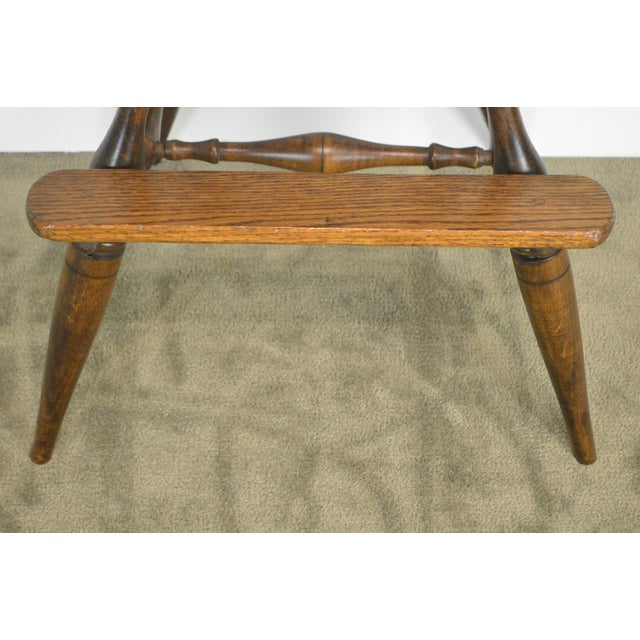 Windsor Style Childs Youth Arm Chair by K. Malone (18th Century Reproduction) For Sale - Image 12 of 13