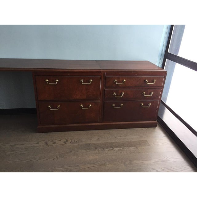 Chippendale Kimball Chippendale Wood & Brass Credenza For Sale - Image 3 of 8