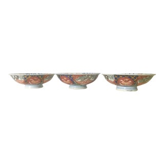 Vintage Small Japanese Imari Style Rice Bowls - Set of 3 For Sale