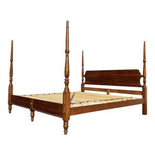 Solid Cherry Four Post King Bed For Sale