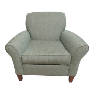 1990s Vintage Ethan Allen Flared Arm Living Room Lounge Chair For Sale