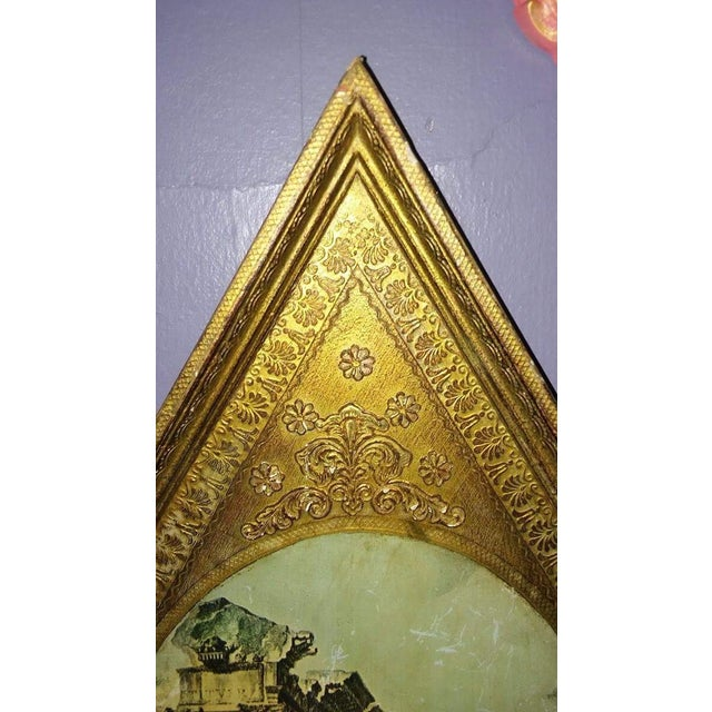 Vintage Italian Florentine Wood Tole Wall Hanging For Sale - Image 5 of 7