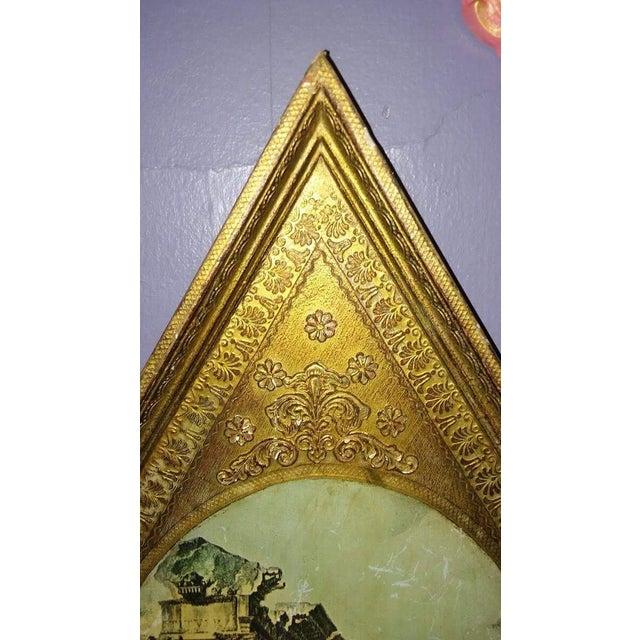 Vintage Italian Florentine Wood Tole Wall Hanging - Image 5 of 7