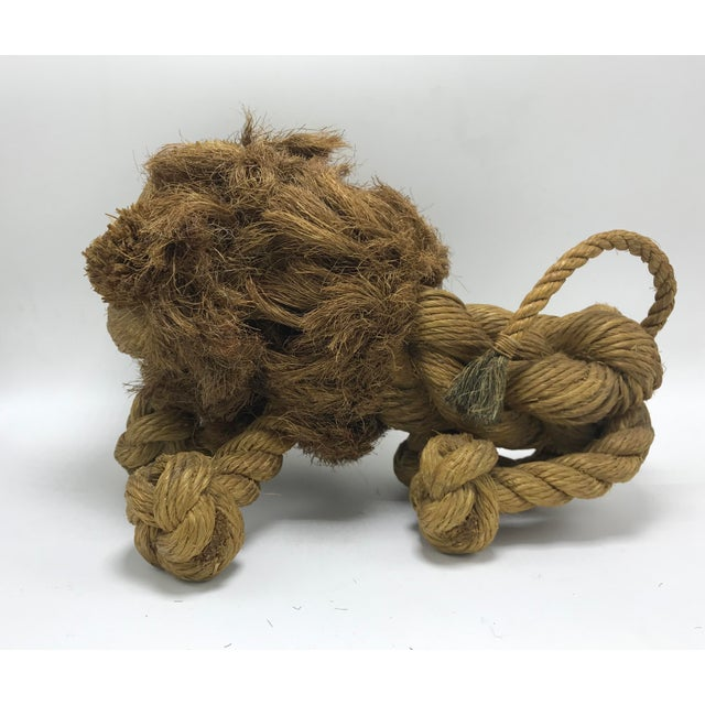 Kay Bojesen 1960s Mid-Century Danish Braided Rope Lion For Sale - Image 4 of 13