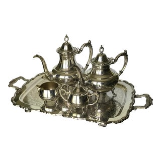 1900's Vintage Oneida Silver-plated Tea Serving Set- 5 Piece