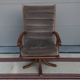 1980s Vintage Danish Teak Swivel Arm Chair Preview