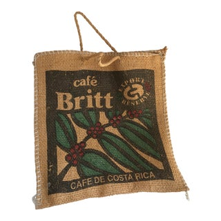 Jute Burlap Coffee Bean Market Tote For Sale