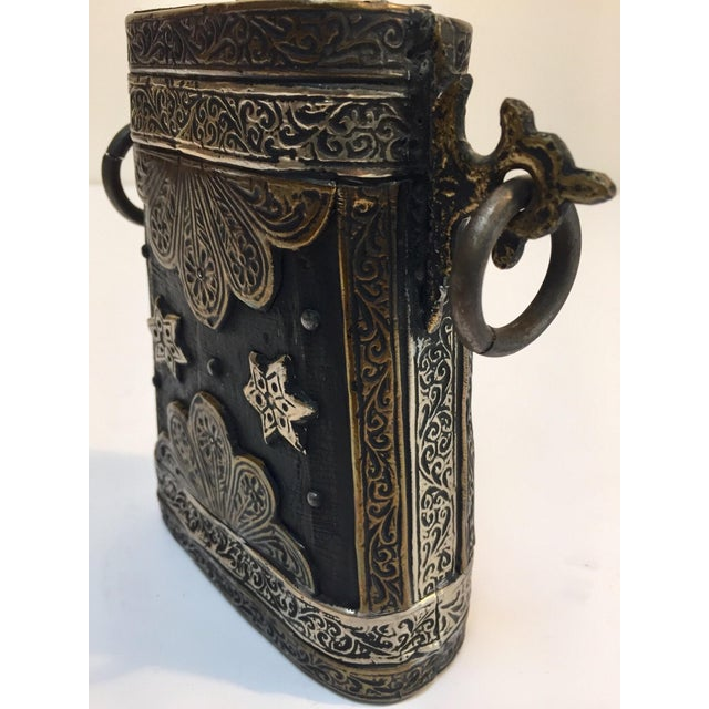 Moroccan Antique Tribal Gun Powder Case Flask For Sale - Image 11 of 12