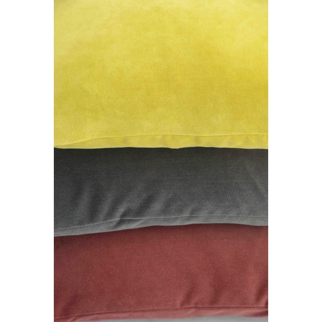 Rich and soft FirmaMenta Gray velvet lumbar pillow. Brighten your room with colors and a luxe touch. Super soft Italian...