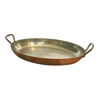 William Sonoma France Gratin Oval Copper Pan
