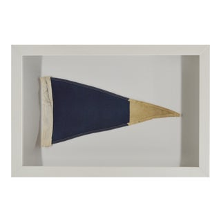 Vintage Navy Signal Flag Framed in Shadow Box For Sale