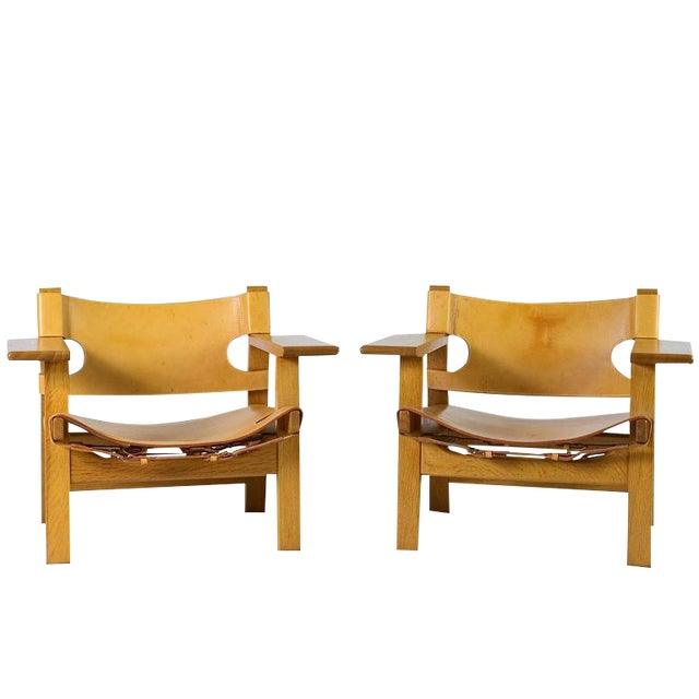 "Pair of Børge Mogensen ""Spanish"" Chairs - Image 1 of 10"