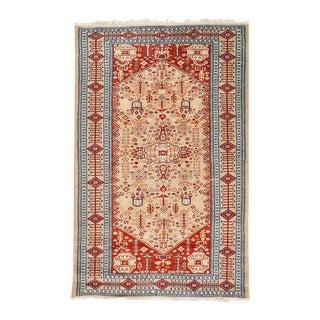 Vintage Pakistani Hand Knotted Rug Carpet For Sale