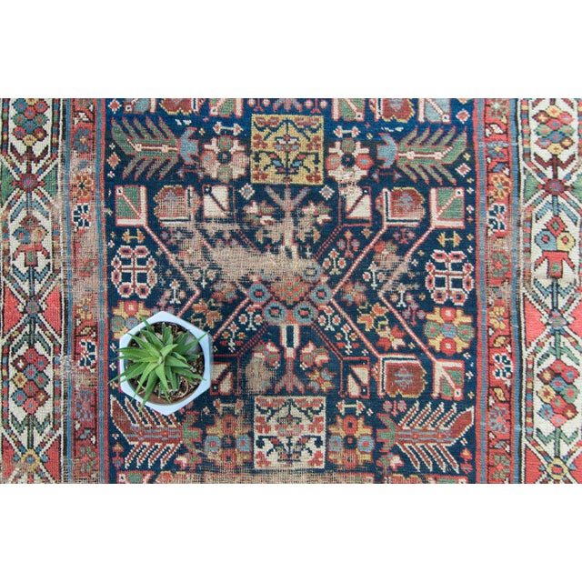 House of Séance - 20th Century Antique Caucasian Handwoven Rug - 3′1″ × 10′10″ For Sale - Image 9 of 11