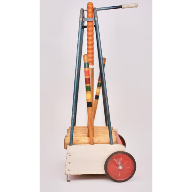 Mid 20th Century Mid Century South Bend Croquet Set For Sale - Image 5 of 12