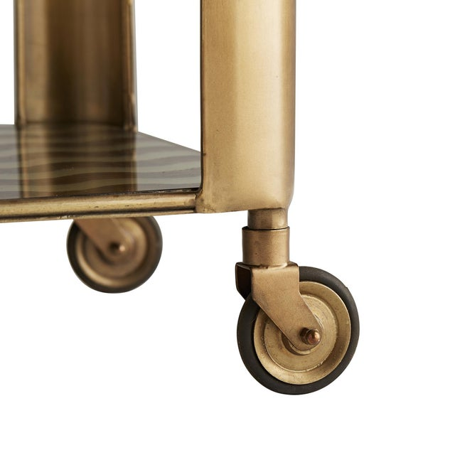 Not Yet Made - Made To Order Celerie Kemble for Arteriors Tinsley Bar Cart For Sale - Image 5 of 6