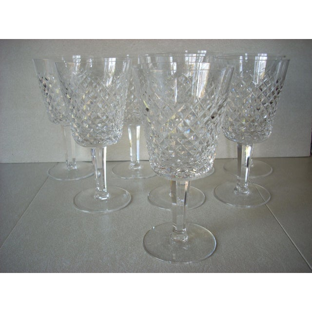 1980s Waterford White Wine Crystal Goblets - Set of 8 For Sale - Image 5 of 5