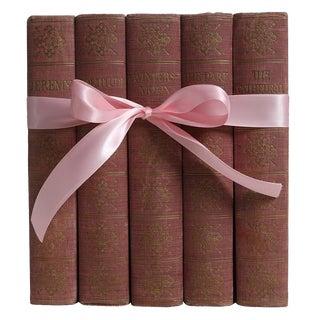"""1930's Vintage Book Gift Set: """"Blush"""" English Novels - Set of 5 For Sale"""