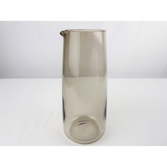 Mid Century Smoked Glass Martini Pitcher For Sale - Image 4 of 8