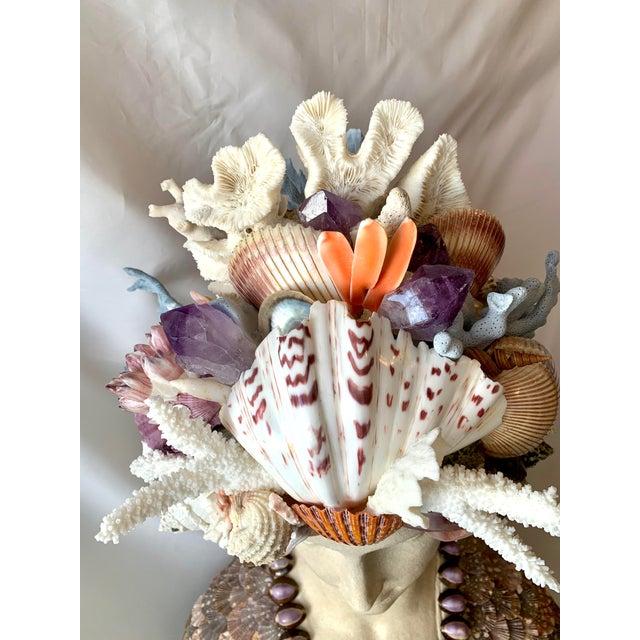 La Sirena Seashell Bust For Sale - Image 9 of 11