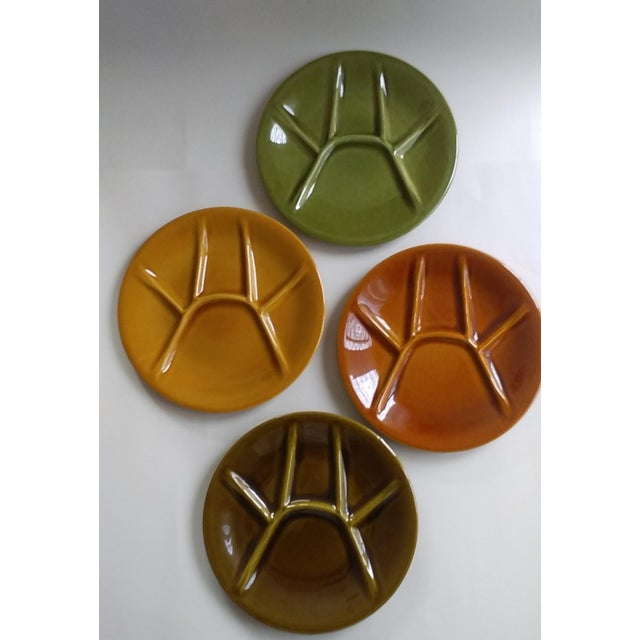 Boch Freres Keralux Divided Plates - Set of 4 For Sale - Image 10 of 10