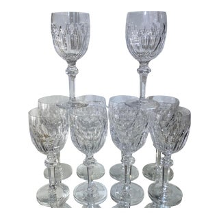 Set or 10 Waterford Curraghmore Cut Crystal Water Goblets For Sale