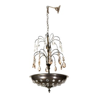 "Maison Jansen Style French Art Deco ""Fountain"" Chandelier For Sale"