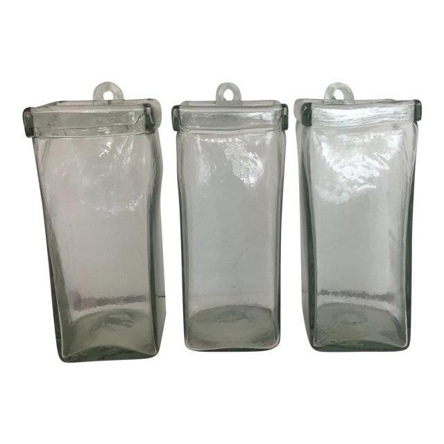 Arhaus Recycled Glass Hanging Vases Set Of 3 Chairish