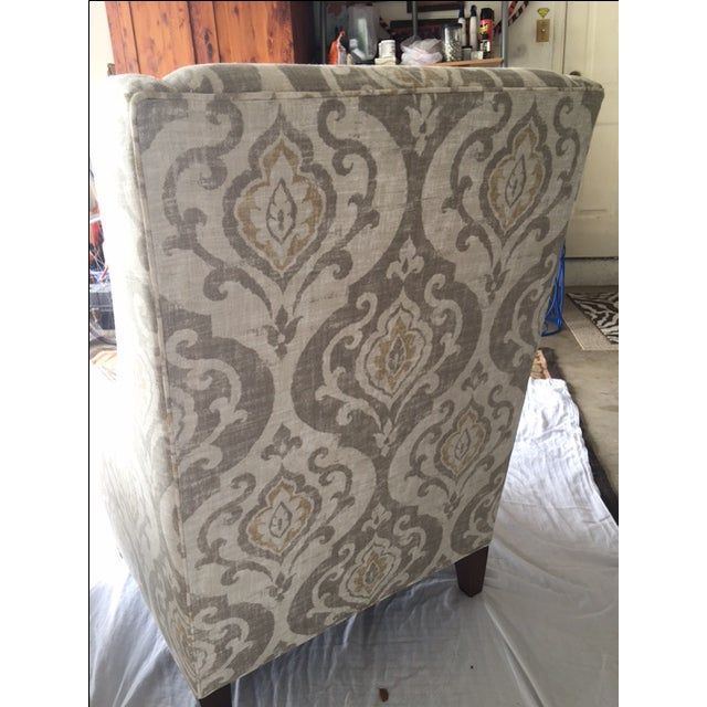 Arhaus Upholstered Plazza Wing Chairs - A Pair - Image 3 of 6