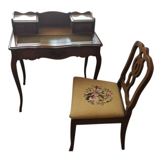 1960s Mid Century Modern Walnut Writing Desk