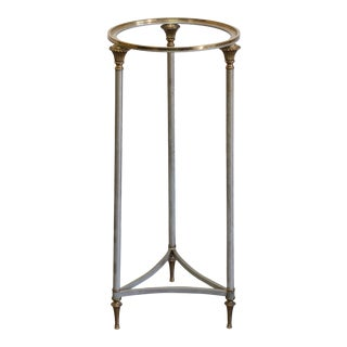 Italian Pedestal Jansen Style Pedestal Table For Sale