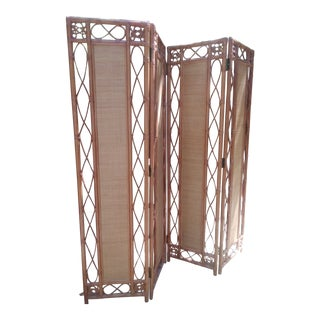 Final Markdown Bamboo & Rattan Room Divider/Final Markdown For Sale