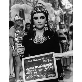"""1963 Elizabeth Taylor as """"Cleopatra"""" Hair and Costume Test (11x14 Canvas) For Sale"""