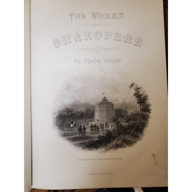 Metal 1873 the Works of Shakespeare Books - Set of 4 For Sale - Image 7 of 13