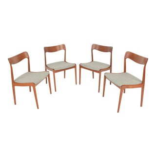 Danish Modern Dining Chairs in Teak - Set of 4 For Sale