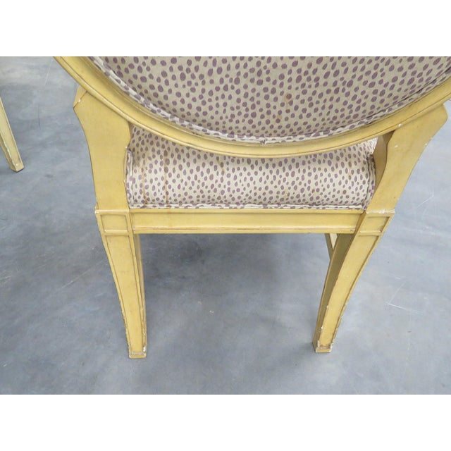 Wood Set of 10 Louis XIV Style Dining Side Chairs For Sale - Image 7 of 13