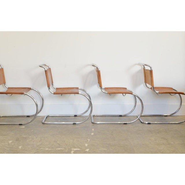 Mid-Century Modern Set of Six Cantilever Chairs by Mies Van Der Rohe For Sale - Image 3 of 8