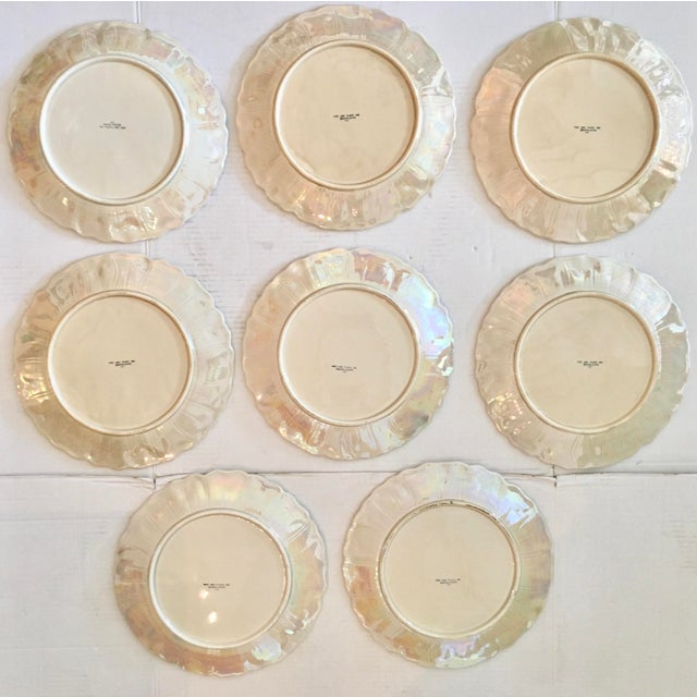 1970s Fitz & Floyd Art Nouveau Dinner Plates - Set of 8 For Sale - Image 5 of 8