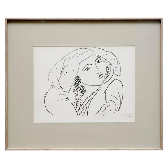 Lithograph after Original Matisse Drawing, 1942 - Image 5 of 5