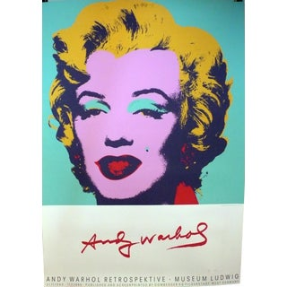 Andy Warhol Retrospektive Museum Ludwig, Hand Printed Silkscreen Poster For Sale