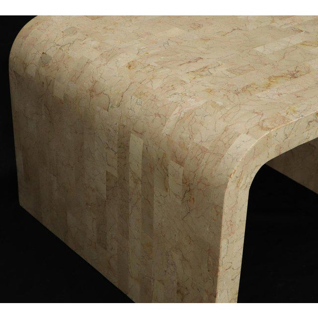 Maitland - Smith Tessellated Stone Veneer C Shape Side Coffee End Table For Sale - Image 4 of 8