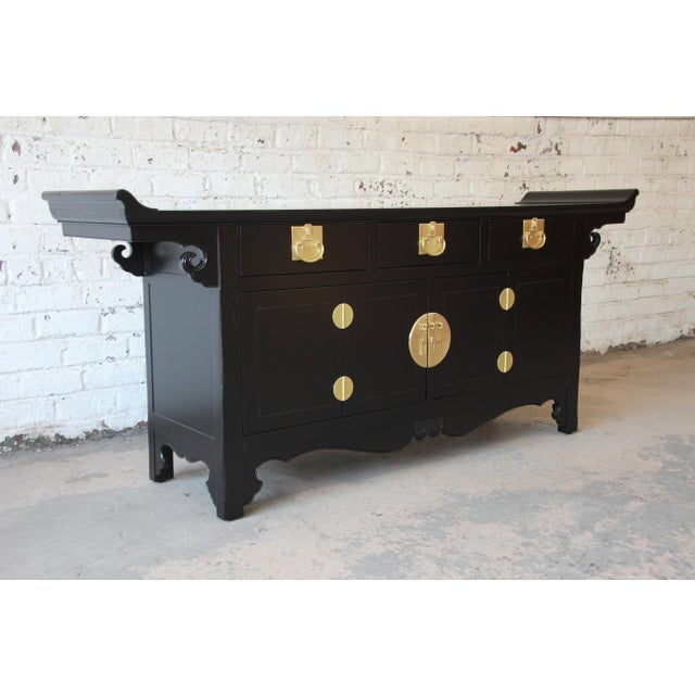 Baker Furniture Company Michael Taylor for Baker Far East Collection Chinoiserie Sideboard Credenza For Sale - Image 4 of 13