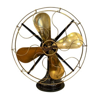 Restored Antique Westinghouse Desk Fan For Sale