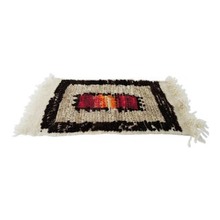 1960s Vintage Moroccan Tribal Accent Rug - 1′4″ × 2′8″ For Sale